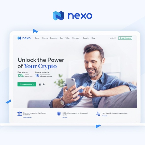 Nexo – zarabiaj na swoich kryptowalutach bez ryzyka! Wysoko oprocentowane lokaty krypto!
